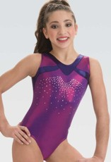 gk 3772 v-neck gymnastics tank leotard