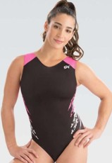 gk elite 3809 pink rival gymnastics workout leotard