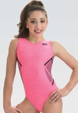 gk 3823 coral knockout classic tank gymnastics leotard