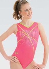 gk elite 3751 watermelon crush gymnastics leotard