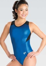 gk elite 3776 branded mesh racerback gymnastics leotard