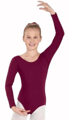 eurotard 10408 studio child cotton lycra long sleeve leotard
