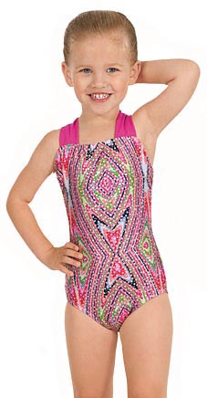 Eurotard 2394 Child Metallic Kaleidoscope Print Gymnastics Leotard
